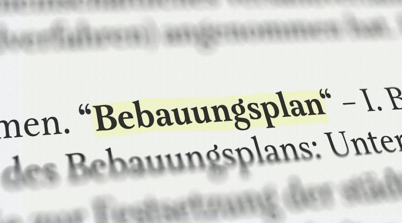 Begriffserklärungen aus dem Bebauungsplan