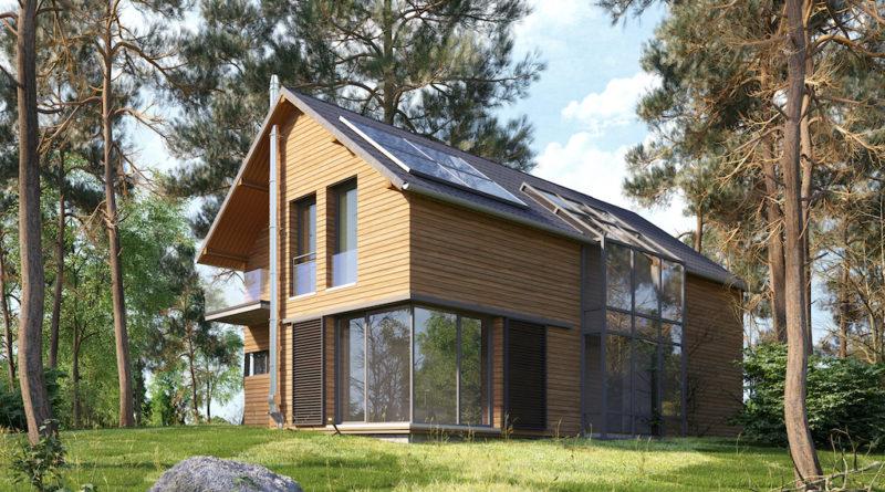 Ökologisches Holzhaus